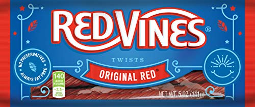 Halloween Movie Back In Theaters (Red Vines Licorice, Original Red Flavor, 5oz Tray, Soft & Chewy Candy)