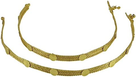 Banithani ton or traditionnel Reine Victoria Ginni Coins Femmes Party Pied de cheville Bijoux