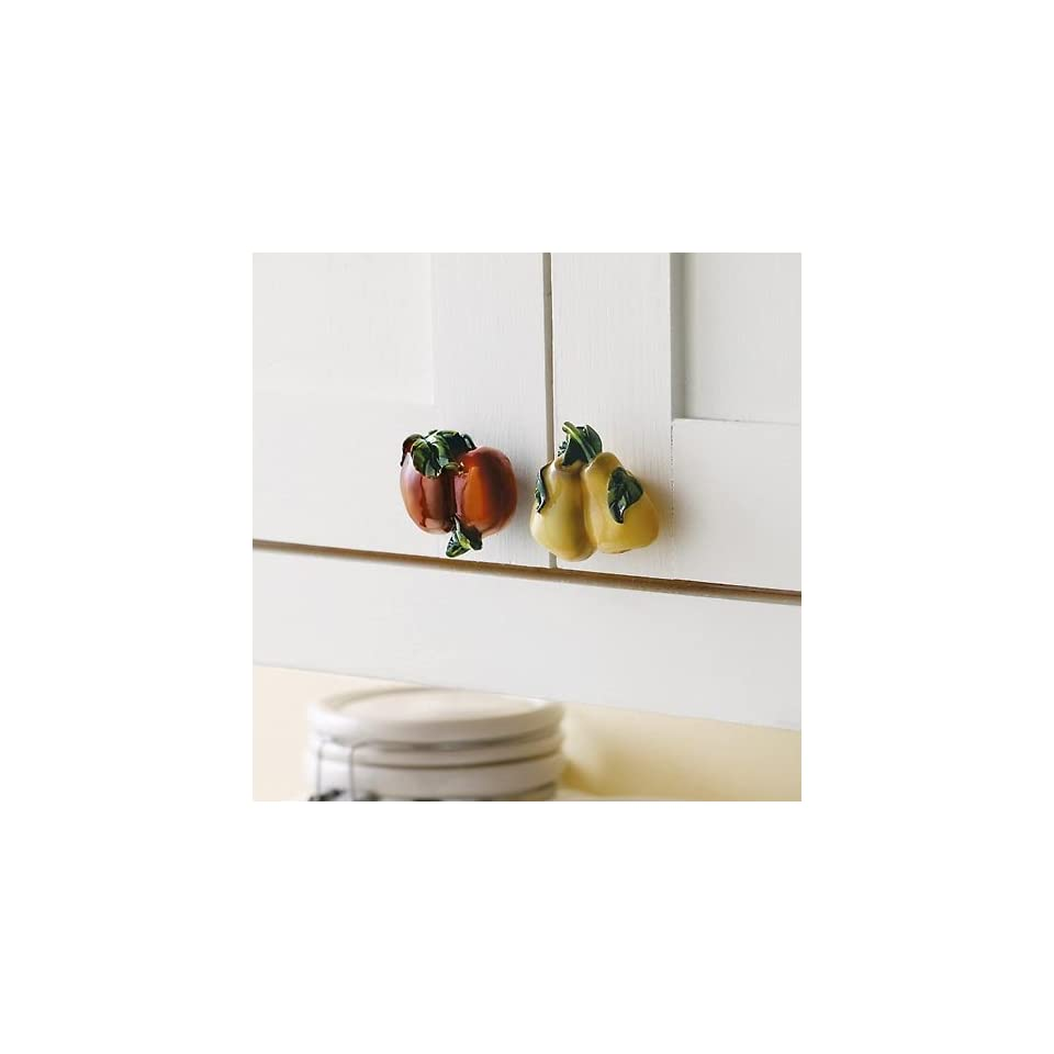 Set of 4 Fruit Cabinet Knobs Drawer Pulls