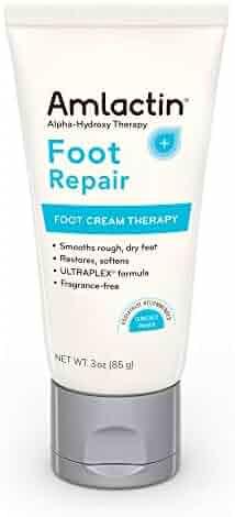 AmLactin Foot Repair Foot Cream Therapy, 3 Ounce Tube, AHA Cream