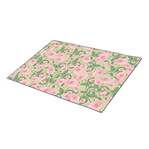 Bestgoon Decorative Door Mats Floral Doormat Shabby Chic