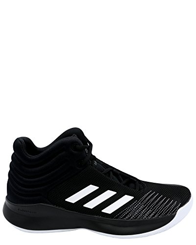 adidas Unisex Pro Spark 2018 Basketball Shoe, Black/White/Grey, 7 M US Big Kid