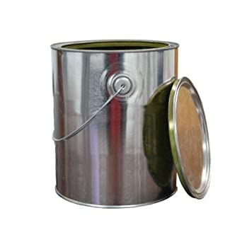 1 Gallon Gold Epoxy Lined Metal Paint Can With Lid Ears Handle Amazon Com Industrial Scientific