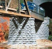N Cut Stone Bridge Pier, Rectangular (2) by Chooch Enterprises