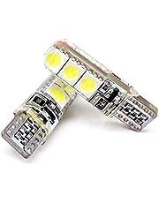 اضاءة ليد LED نوع 5050, 6 شرائح ليد , مقاس T10 للسيارة (طقم 2 لمبة) لجميع اسيارات