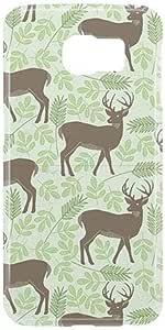 Loud Universe Samsung Galaxy S6 Spring Deers Print 3D Wrap Around Case - Green/Brown
