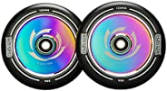 CLAS FOX Pro Stunt Scooter Wheel 1 Pair 120mm Hollow Wheels with ABEC 9 Bearings for MGP/Razor/Lucky/Envy/Voku