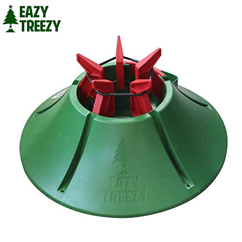 Allstar Innovations Eazy Treezy Drop-in Christmas Tree Stand- Fits Living Trees up to 10 FT Tall, No Spill Waterspout, One Person Fast Assembly, Green (Stand Christmas Tree Fill Easy)