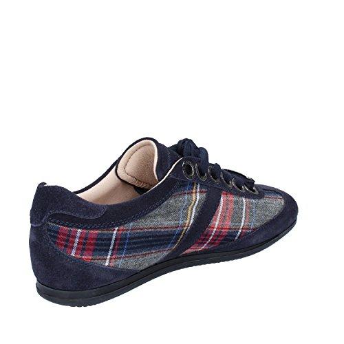 Suede Dell'Acqua Blue 37 Blue Textile Sneakers EU Woman Grey Alessandro AXwBngB