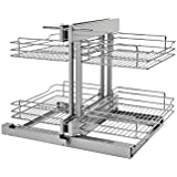 Rev-A-Shelf - 5PSP-15-CR - 15 in. Blind Corner Cabinet Pull-Out Chrome 2-Tier Wire Basket Organizer