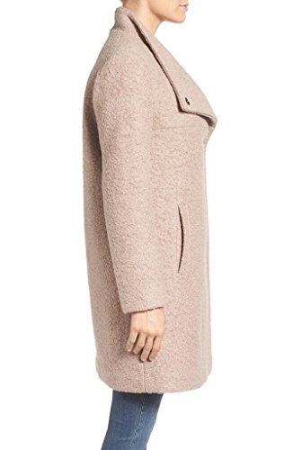 Kenneth Cole New York Women's 176KT257 Pressed Wool-Blend Boucle Coat - Mauve - L