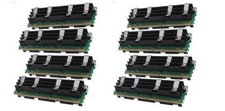 64GB ( 8 X 8 GB ) DDR2 PC2-6400F 800MHz ECC Fully Buffered 2Rx4 FB-DIMM (240 PIN) w/ Heatspreaders for Apple MAC computers Memory RAM