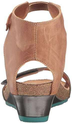 Heel Sandals Naot Women's Sea Leather Brown Leather Green Latte Mid Prophecy CxAwxtgq