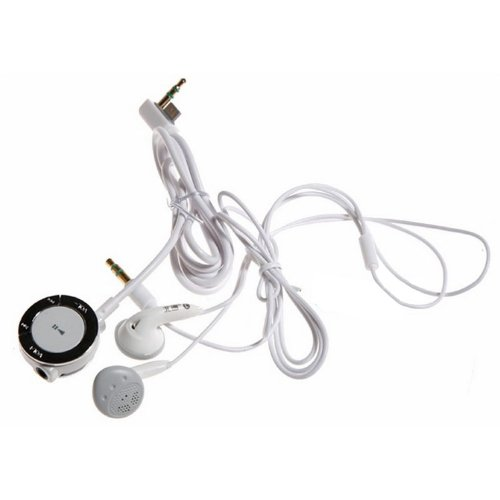 OSTENT Stereo Earphone Headphone and Remote Control Compatible for Sony PSP 2000 3000 Console Color White