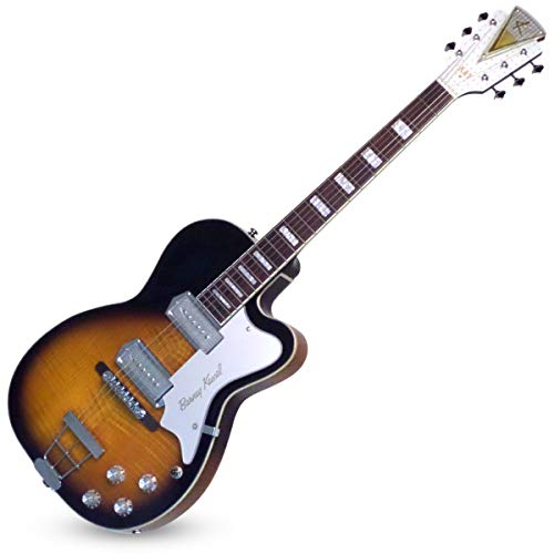 "Kay Reissue 1957 Barney Kessel ""Pro"" Electric Guitar Limited Production Signature Edition & Case – Sunburst (K1700VTS)"