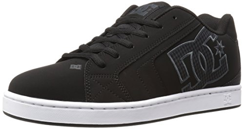 DC Shoes Kids Net Se Youth Shoe Fashion Sports Skate Shoe Leather Nubuck Black/Black
