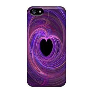 Waterdrop Snap-on Heart Light Purple Cases For Iphone 5/5s
