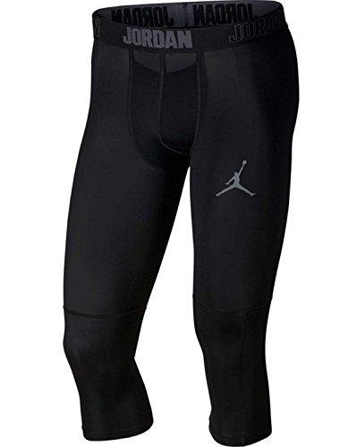Jordan Dry 23 Alpha 3/4 Men's Training Tights (Black/Dark Grey, Large) by NIKE