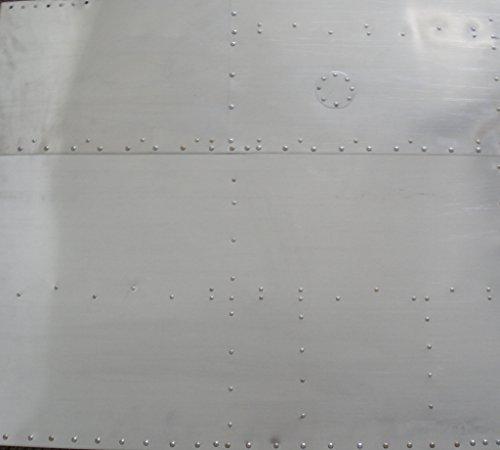 Undecorated Aluminum Nose Art Panel, Flush Rivets
