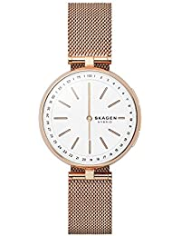 Women's Signatur T-Bar Stainless Steel Mesh Hybrid Smartwatch, Color Rose Gold-Tone SKT1404