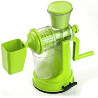 DD Plastic Vegetable And Fruit Hand Juicer With Waste Cup (Green)
