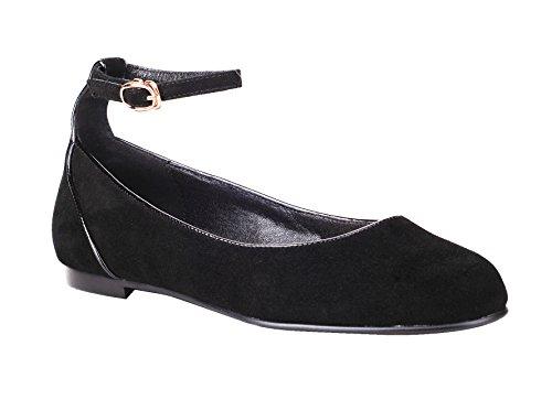 queenfoot Suede femme pour Mocassins Pump6013 C Black 1fFOBqw
