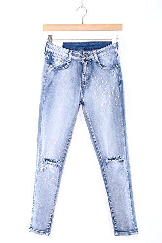 Fit Jeans Fashion Sale Leggero Fascino Sexy Elegante Classico Pantaloni Femminile Primavera Cotone 5091 Abbino Festivo art Giovane Elastico Slim Colore Blu 1 Cg008 Attraente Donne Sportivo Estate P5Wpw