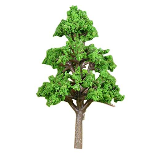 Vosarea Miniature Model Trees Fairy Garden Landscape Plant Pine Tree Model Train Scenery DIY Craft Garden Ornament (Middle)