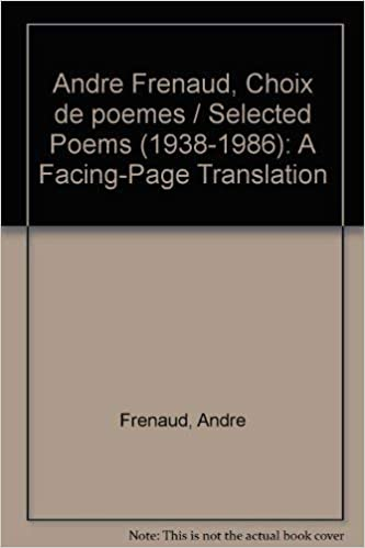 Andre Frenaud Choix De Poemes Selected Poems 1938 1986 A