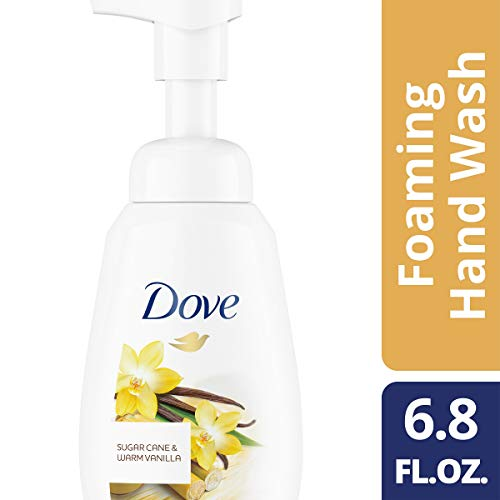 DOVE BODY WASH Foaming Hand Wash, Sugar Cane & Warm Vanilla, 6.8 oz (Shower Sugar Foam)