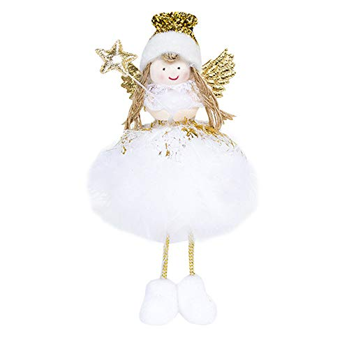 Gotian Christmas New Year Desktop Cute Angel Dolls Home Party Decoration Fabric (B)