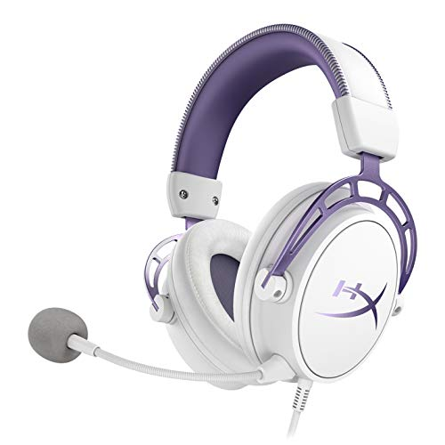 HyperX Cloud Alpha Gaming Headset - White/Purple - Limited Edition for PC, PS4 & Xbox One, Nintendo - Pc Purple