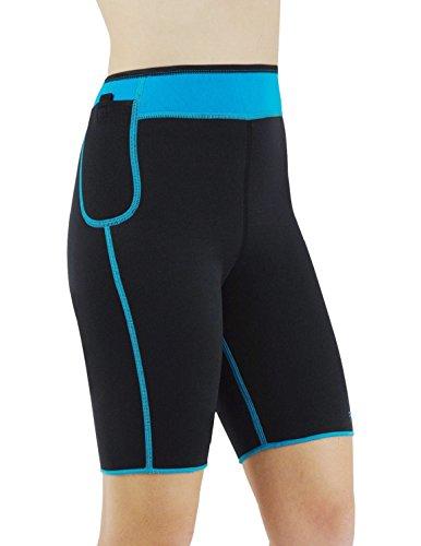 YANGJIA Seamless Comfortable Neoprene Firm Skinny Stretchy Slimming Short Pants (Capri Everlast)