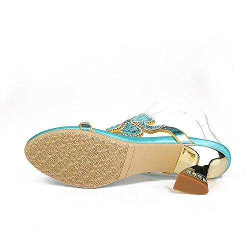 Unicoratha - Zapatillas de estar por casa de Material Sintético para mujer Azul - azul