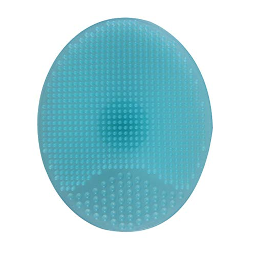 Gmgod❤️❤️Silicone Beauty Wash Pad Face Exfoliating Blackhead Facial Cleansing Brush Tool (Blue)