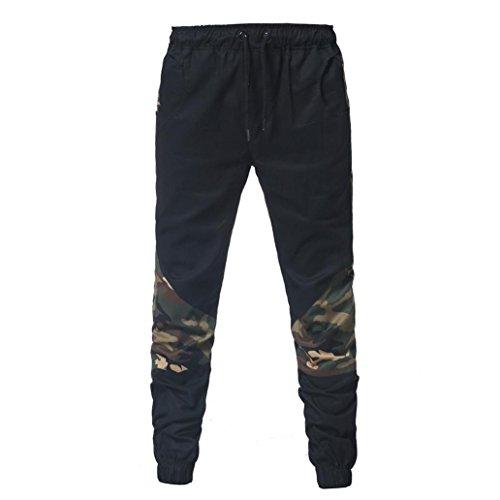 d083f009300232 Tascabili Larghi Jeans Leggings Pantalone Cargo Slim pantaloni Coulisse  Estivi Pantaloni Uomo Nero Challenge Lino Jogging ...