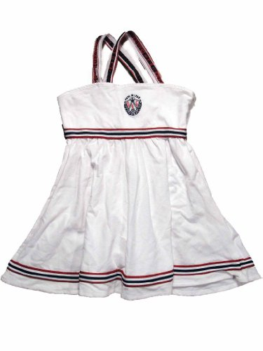 D&G Criss Cross Dress in Optical White - Gabbana Junior Dolce