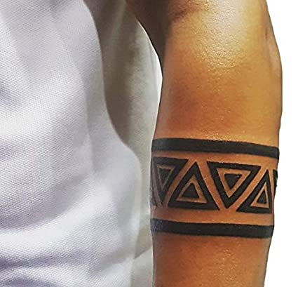 Voorkoms Triangle Hand Band Tattoo Men And Women Waterproof Temporary Body Tattoo Amazon In Beauty