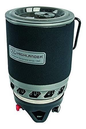 Highlander Hoja 1.1L rápido hasta hervido olla y batería de cocina estufa para acampada: Amazon.es: Deportes y aire libre