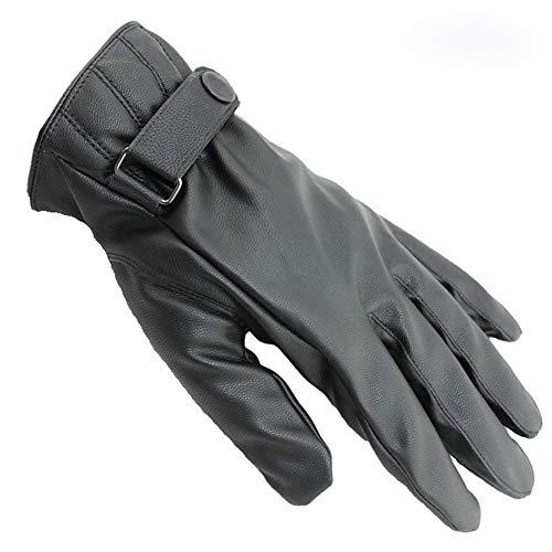 思い出させる著者エチケット手袋 メンズ スマホ対応 パネル対応 裏起毛 極暖 PUレザー グローブ メンズ 手ぶくろ 冬 防寒 作業 バイク 自転車 ビジネス 快適操作 男性用手袋