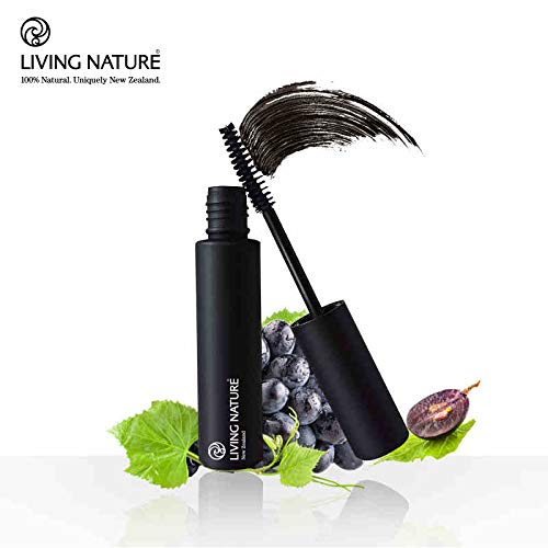 (LIVING NATURE I 100% NATURAL JET BLACK THICKENING MASCARA I 8 ml (0.27 fl oz) I FRAGRANCE FREE I FOR SENSITIVE EYES AND SKIN AND ALLERGIES l CRUELTY FREE l CERTIFIED NATURAL)