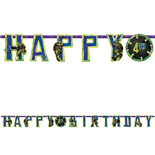 Teenage Mutant Ninja Turtles Jumbo Banner, 1 Piece, Made from Paper, Parties,Celebrations, 10 1/2 feet X 10