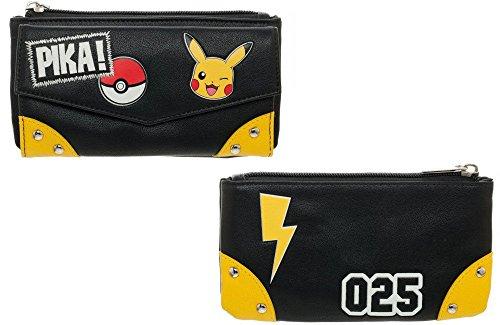 Ufficialmente autorizzata Ladies Pokemon Pikachu Pika! Borsa Flap anteriore
