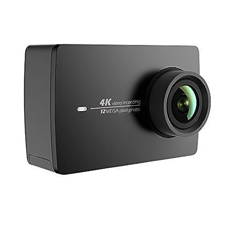 YI 4K Cámara de Acción/Deportiva/cámara de Video 4k WiFi Ultra HD de Lente de Amplio ángulo con una Pantalla táctil de 2.19pies (EU Versión) (Negro)