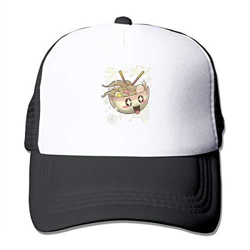 Kawaii Ramen Classic Trucker Hat Adjustable Baseball Cap for Men and Women Black