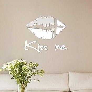 Amazon Com Kiss Wall Decal Sticker Kissing Lips