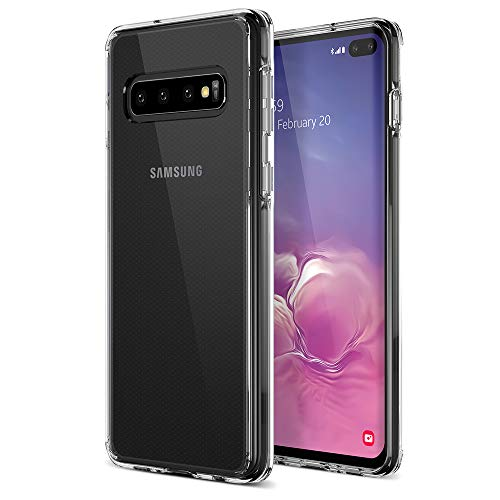 Trianium Clarium Case Designed for Galaxy S10 Plus Case (2019) - Clear TPU Cushion/Hybrid Rigid Back Plate/Reinforced Corner Protection Cover for Samsung Galaxy S10+ Phone (PowerShare Compatible)