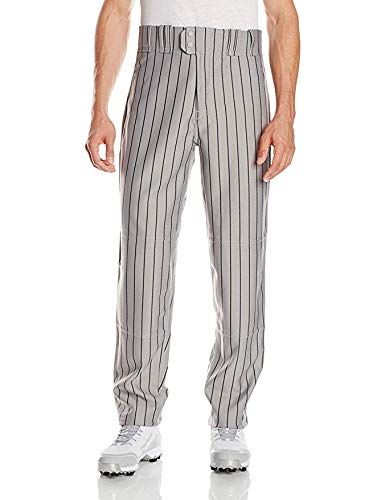 Rawlings Men's Relaxed Fit BP95MR Pinstriped Pant, Dodger Grey with Navy Pinstripes, X-Large