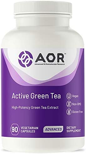 AOR, Active Green Tea, Natural High-Potency Green Tea Extract, with EGCG Catechins 150 mg , Vegan Take Daily, 90 Capsules 30 Servings
