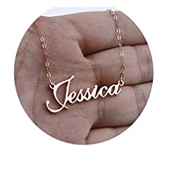 Fine or Fashion:FashionItem Type:NecklacesStyle:TrendyChain Type:Link ChainMetals Type:Stainless Steelis_customized:YesNecklace Type:Pendant NecklacesPendant Size:CustomizeMaterial:MetalShape\pattern:LetterGender:WomenCompatibility:Customized...